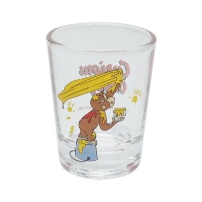 おさるのジョージ グッズ ショットグラス ミニ ガラス タンブラー 絵の具 イエロー 絵本キャラクター