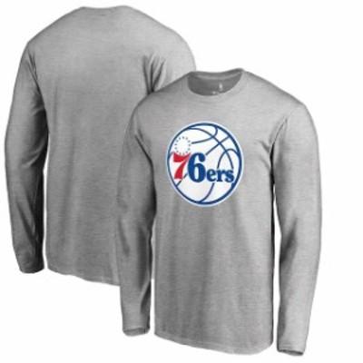 Fanatics Branded ファナティクス ブランド スポーツ用品  Fanatics Branded Philadelphia 76ers Heather Gray Primary Team Logo Long S