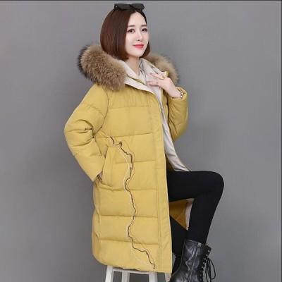 ファッション フォーマル 通勤 OL オフィス ダウンコート ダウンジャケット 女性 中綿 ロング丈 アウター 防寒 軽量 防風 キレイめ 暖かい カジュアル