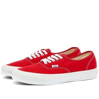 バンズ ボルト Vans Vault メンズ スニーカー シューズ・靴 Authentic LX Red