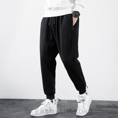 春 新品 大きいサイズの服 メンズ スウェットパンツ スエットパンツ 裾リブ ポケット付き ストレッチ パンツ ジョガーパンツ カジュアルパンツ スポーツパンツ