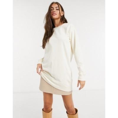 ピーシーズ レディース パーカー・スウェットシャツ アウター Pieces long sleeved sweatshirt co ord in cream Ecru