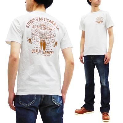 ステュディオダルチザン Tシャツ Studio D'artisan 零戦 アドバタイジング 半袖Tシャツ 8029B ホワイト 新品