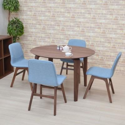 ダイニングテーブルセット 5点セット 丸テーブル 幅110cm marut110-5-pani339wn 4人用 ウォールナット色/WN BL色 円テーブル アウトレット 組立品 21s-6k