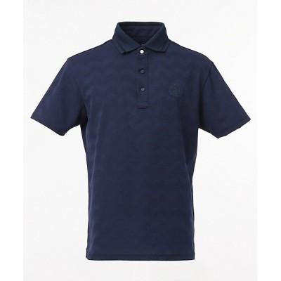 <23区GOLF/ニジュウサンクゴルフ> ヘリンボンリンクス ポロシャツ(KHVTBM0325) ネービーブルー【三越伊勢丹/公式】