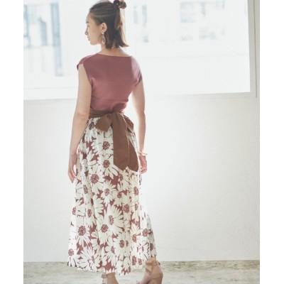 DRWCYS / フラワープリントバックリボンスカート WOMEN スカート > スカート