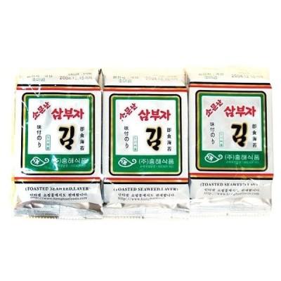 *韓国食品*大人気!パリパリと美味しい韓国海苔〜!サンブジャのり(お弁当) 1袋(3個入) (8切11枚3個)(m5101)*goodmall*