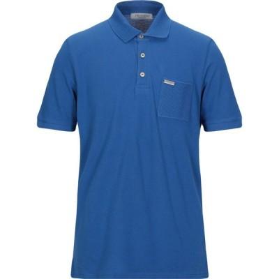 トラサルディ TRUSSARDI COLLECTION メンズ ポロシャツ トップス polo shirt Blue