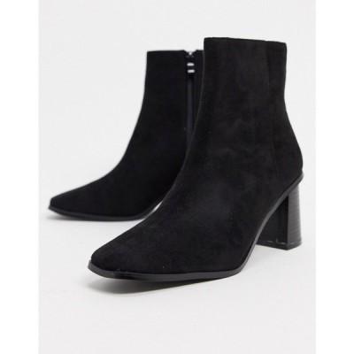 レイド Raid レディース ブーツ スクエアトゥ シューズ・靴 Paulina Square Toe Ankle Books In Black ブラック