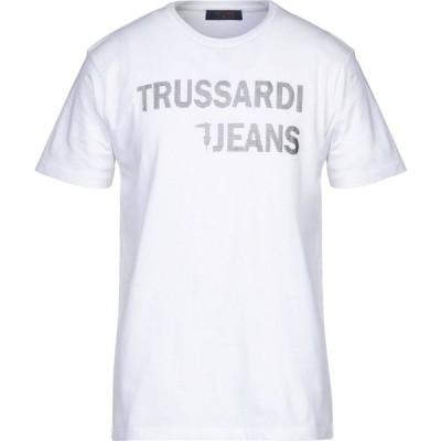 トラサルディ TRUSSARDI JEANS メンズ Tシャツ トップス t-shirt White