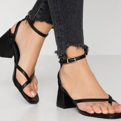 レディース サンダル JORDANA - T-bar sandals - black