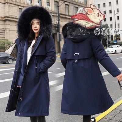 中綿ダウンコート レディース 40代 ロング丈 軽い 秋冬 アウター 中綿コート 中綿ジャケット ダウン風コート フード付き 防寒 暖かい 大きいサイズ スリム