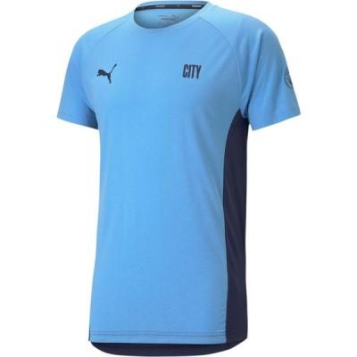プーマ PUMA メンズ Tシャツ トップス Manchester City Evostripe Blue T-Shirt