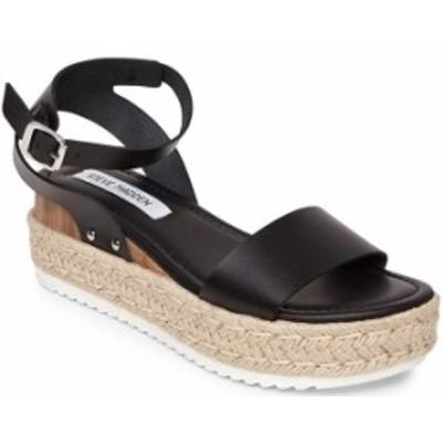 スティーブ マデン レディース サンダル シューズ Chaser Ankle Strap Flatform Sandals Black