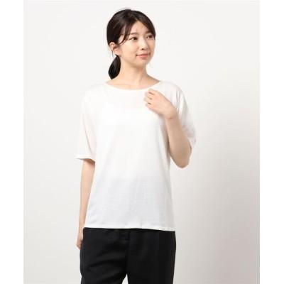 tシャツ Tシャツ シャーリングカットソートップス
