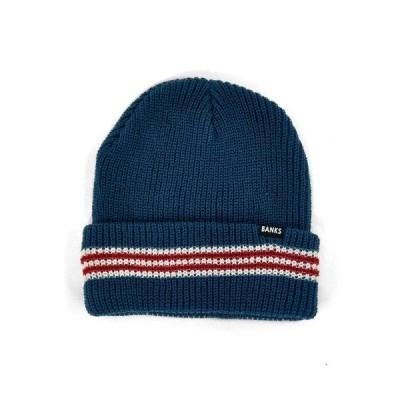 BANKS(バンクス)帽子 ニットキャップ BE0014 STRIPE BEANIE シンプル ストライプ ビーニー ニット帽 mens メンズ 男性用