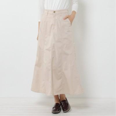 薄手の素材で履きやすい◎シルエットが奇麗な裾フレアスカート アイボリー 58 61 64 67 70