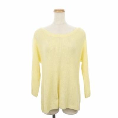 【中古】スピック&スパン ノーブル Spick&Span Noble セーター ニット ボートネック 長袖 ペールカラー 黄色 レディース