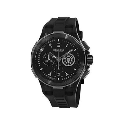 コンコードc2自動Chronogrphメンズブラックゴムストラップスイス製腕時計0320191