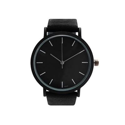 Montoreire シンプル 腕時計 うでどけい レディース 安い ペアウォッチ かわいい(メンズサイズ ブラック)