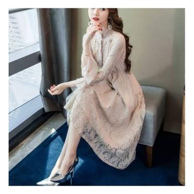 パーティードレス 20代 30代 40代 50代 結婚式 ワンピース 大きいサイズ 袖あり 膝丈 ミモレ丈 フォーマル ロングワンピース  お呼ばれ ドレス 服装 女性 二次会