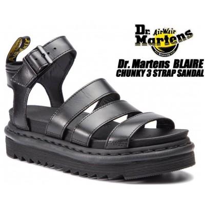 Dr.Martens BLAIRE BLACK BRANDO 24191001 ZEBRILUS ドクターマーチン ブレア ストラップ サンダル ブラック シャークサンダル ZIGGY ソール グラディエーター