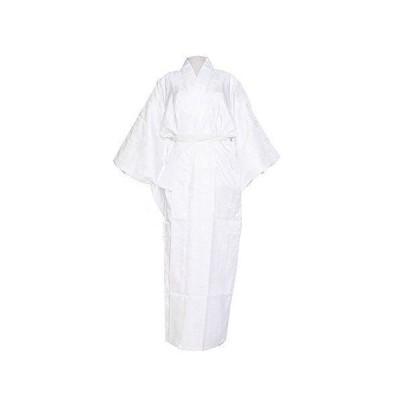 洗える 長襦袢 半衿付 袖無双 地紋入 仕立て上がり (Sサイズ, 白)