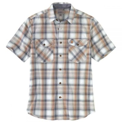 カーハート CARHARTT メンズ 半袖シャツ トップス Rugged Flex Relaxed Fit Short-Sleeve Shirt I SOFT BLUE