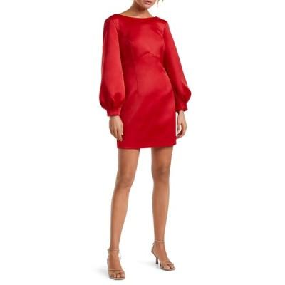 エバニュー ワンピース トップス レディース Tazmin Bow Back Long Sleeve Cocktail Dress Red