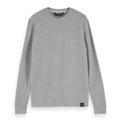 スコッチアンドソーダ Tシャツ ロンT メンズ 正規販売店 SCOTCH&SODA 長袖Tシャツ クルーネックTシャツ TWILL-STRUCTURED JERSEY TEE 155329 1161 13409 03