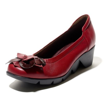 Monet モネ 883906 靴 パンプス ワイン 本革 3E 日本製