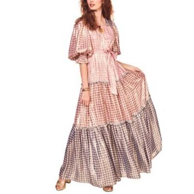 ラブスハックファンシー レディース ワンピース トップス LoveShackFancy Stormi Silk-Blend Maxi Dress multicolor