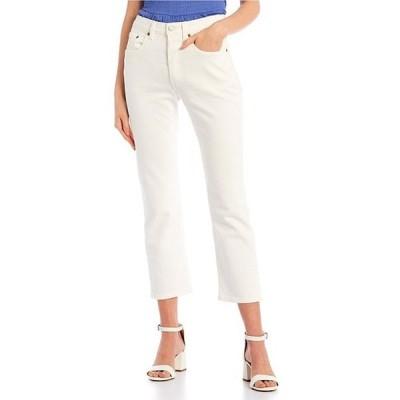 リーバイス レディース デニムパンツ ボトムス Levi'sR 501 Straight Leg Distressed Cropped Jeans
