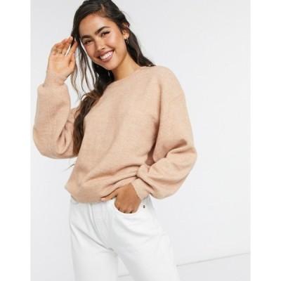 エイソス レディース ニット・セーター アウター ASOS DESIGN oversized fine crew neck sweater