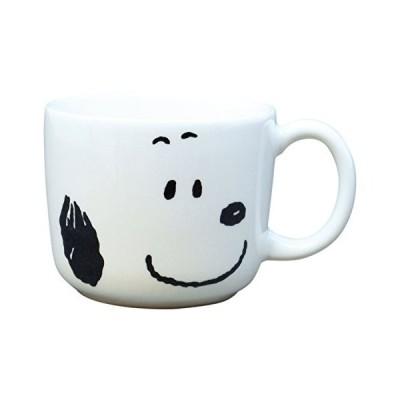 「 PEANUTS(ピーナッツ) 」 スヌーピー カラーフェイス マグカップ 250ml 白 604151