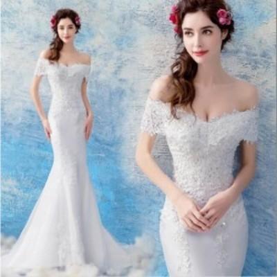 礼服 結婚式 花嫁 パーティードレス プリンセスライン ウエディングドレス ブライダル 素敵 ワンピース 大きいサイズ 冠婚 ロング丈ワン