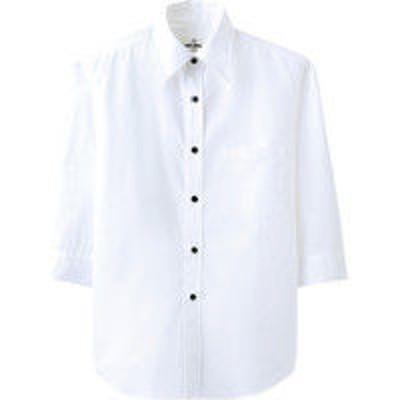 チトセチトセ EP7618 シャツ(七分袖)〔兼用〕 M EP7618_C-1ホワイト_M(取寄品)