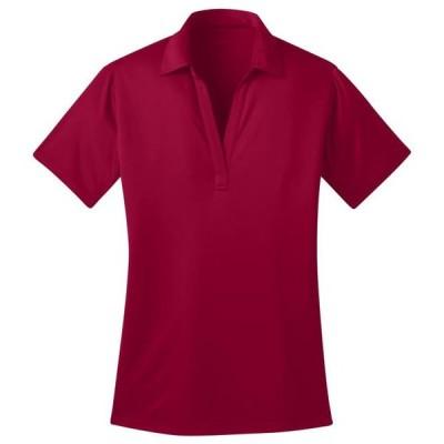 レディース 衣類 トップス Port Authority Women's Durable Wicking Performance Polo Shirt_Red_Small ブラウス&シャツ