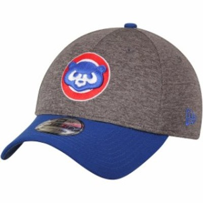 New Era ニュー エラ スポーツ用品  New Era Chicago Cubs Adult Heathered Gray/Royal 39THIRTY Shadow Tech Logo Flex Hat