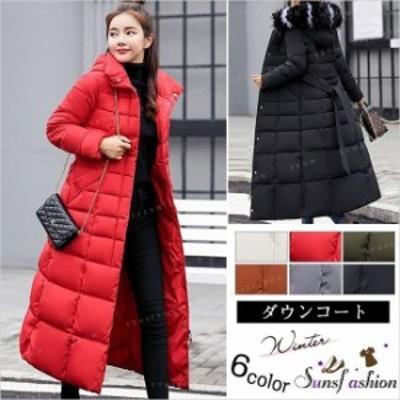 秋冬 ダウンコート ロング レディース服 大人 冬服 コート アウター 大きいサイズ 軽量