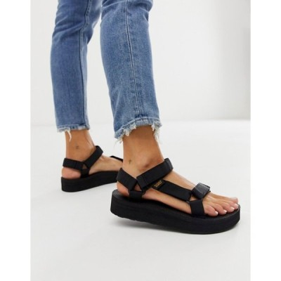 テバ レディース サンダル シューズ Teva midform universal chunky sandals in black