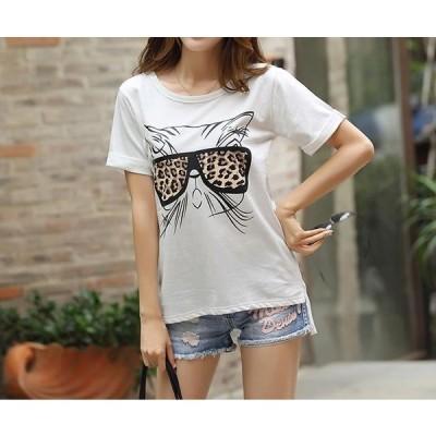 【送料無料】猫 猫柄 Tシャツ レディース かわいい 半袖 おしゃれ ねこ ネコ グッズ 雑貨 ファッション プレゼント