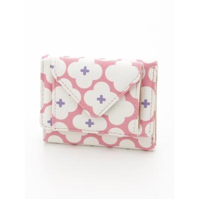 Hallmark (ホールマーク) レディース ミニ三つ折り財布花柄 PINK onesize