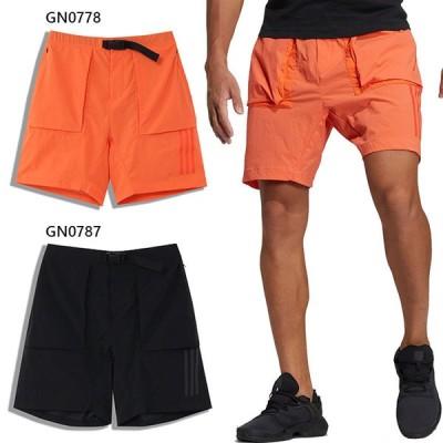 アディダス メンズ テック ウーブンショーツ Tech Woven Shorts カジュアル フィットネス トレーニング デイリー ジップポケット ショートパンツ JKL67