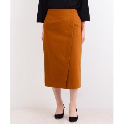 【マリン フランセーズ/LA MARINE FRANCAISE】 コットンサテンストレッチ アシメントリータイトスカート