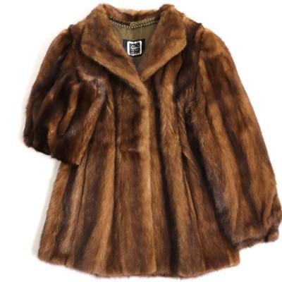 極美品▼SAGA MINK サガミンク 本毛皮コート ブラウン 毛質艶やか・柔らか◎