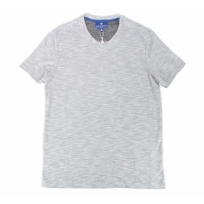 Ryan  ファッション トップス RYAN SEACREST Distinction Mens Tee Shirt Gray Size Medium M V Neck
