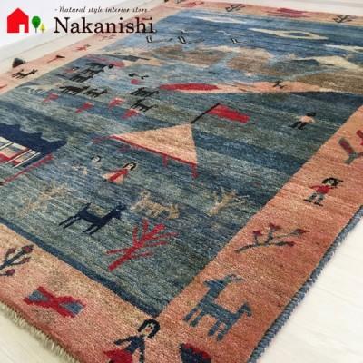 【ギャッベラグ 約1.5畳 約156×187cm GAIR~世界~】GABBEH・ギャッペ(ギャべ)・イラン製・玄関マット・カーペット・ラグ・絨毯(じゅうたん)・カラフル
