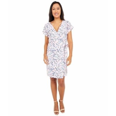 ボベー ワンピース トップス レディース Short Sleeve Crepe Wrap Dress Blush/Denim Tropical
