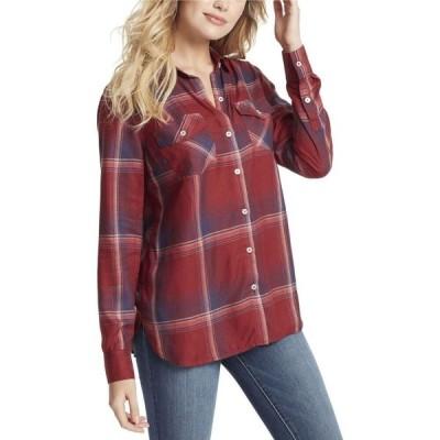ジェシカシンプソン Jessica Simpson レディース ブラウス・シャツ トップス Petunia Plaid Shirt Red